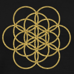 Feel the Harmony! EGG OF LIFE, digital, gold, sacred geometry, energy, symbol, powerful, icon, Hoodies & Sweatshirts - Men's Premium T-Shirt