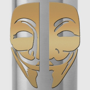 Mask anonymous gold - Water Bottle