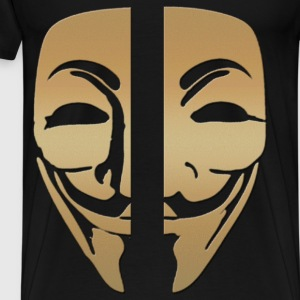 Mask anonymous gold - Men's Premium T-Shirt