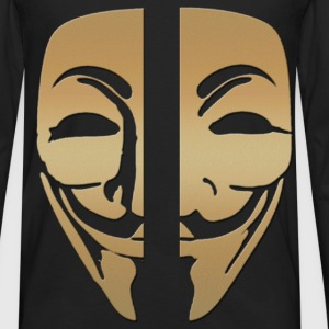 Mask anonymous gold - Men's Premium Longsleeve Shirt