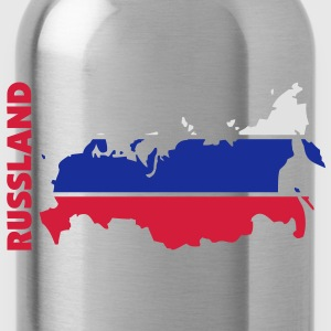 russland_umriss_flagge_50 Bags  - Water Bottle