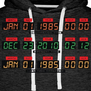 Back To The Future I Time Travel Date Console - Men's Premium Hoodie