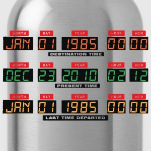 Back To The Future I Time Travel Date Console - Water Bottle