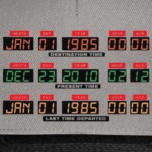 Back To The Future I Time Travel Date Console - Snapback Cap