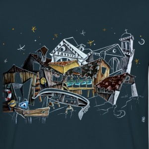 Squero Fantasy Sketch - Venice Italy - Men's T-Shirt