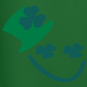 shamrock  hat smiley face  st.patrick's day Men's Contrast T-Shirt - Men's Football shorts