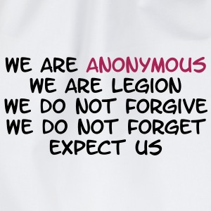 We Are Anonymous T-Shirts - Turnbeutel