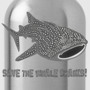 save the whale shark sharks fish dive diver diving endangered species Kids' Shirts - Water Bottle