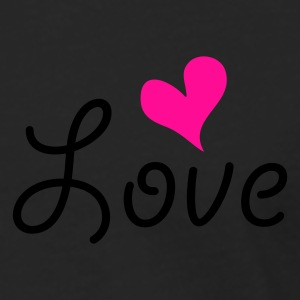 Love with heart T-shirts - Långärmad premium-T-shirt herr
