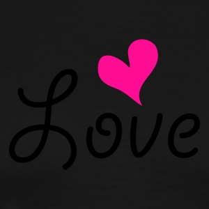 Love with heart Kookschorten - Mannen Premium T-shirt