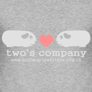 Piggie Love Two's Company Women's Hoodie  - Men's Slim Fit T-Shirt