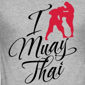 I Love Muay Thai Hoodies & Sweatshirts - Men's Slim Fit T-Shirt