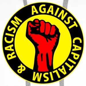 Digital - against capitalism & racism - against capitalism working class war revolution Bottoni/Spille - Felpa con cappuccio premium da uomo