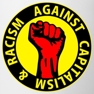 Digital - against capitalism & racism - against capitalism working class war revolution Bottoni/Spille - Tazza