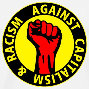 Digital - against capitalism & racism - against capitalism working class war revolution Bottoni/Spille - Maglietta Premium da uomo