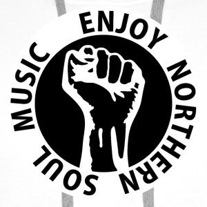 Digital - Enjoy Northern Soul Music - nighter keep the faith Przypinki - Bluza męska Premium z kapturem