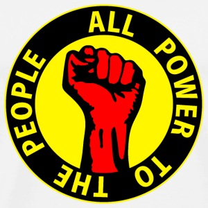 Digital - all power to the people - against capitalism working class war revolution Buttons - Men's Premium T-Shirt