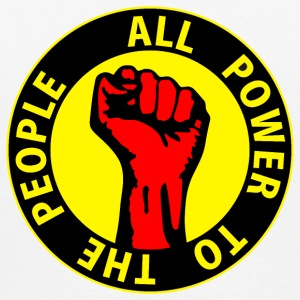 Digital - all power to the people - against capitalism working class war revolution Muggar - Premium-T-shirt herr