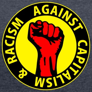 Digital - against capitalism & racism - against capitalism working class war revolution Felpe - Maglietta da donna con risvolti