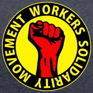 Digital - Workers Solidarity Movement - Working Class Unity Against Capitalism Sweaters - Vrouwen T-shirt met opgerolde mouwen