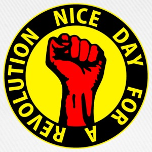 Digital - nice day for a revolution - against capitalism working class war revolution Felpe - Cappello con visiera