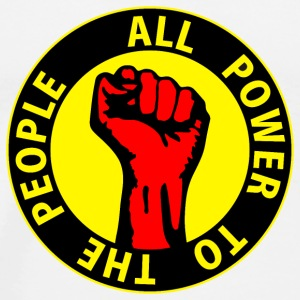 Digital - all power to the people - against capitalism working class war revolution Felpe - Maglietta Premium da uomo