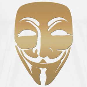 anonymous gold mask Tasses - T-shirt Premium Homme