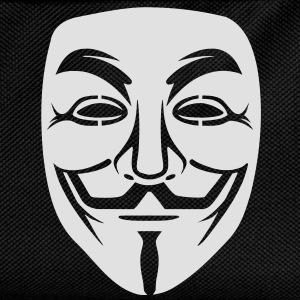 Anonymous/Guy Fawkes mask 1 clr T-Shirts - Kids' Backpack