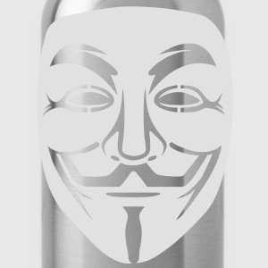 Anonymous/Guy Fawkes mask 1 clr T-Shirts - Water Bottle