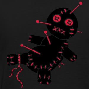 2 col - Voodoo Puppe Doll Funny Game Hawaii Tattoo Horror Psychopath Poloshirts - Mannen Premium T-shirt