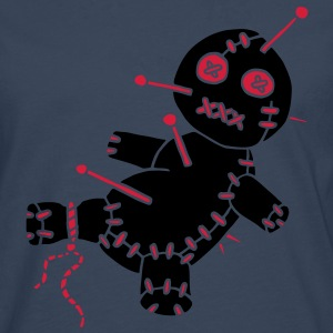 2 col - Voodoo Puppe Doll Funny Game Hawaii Tattoo Horror Psychopath Sweaters - Mannen Premium shirt met lange mouwen