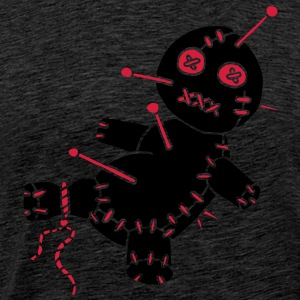 2 col - Voodoo Puppe Doll Funny Game Hawaii Tattoo Horror Psychopath Sweatshirts - Herre premium T-shirt
