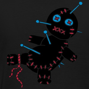 3 col - Voodoo Puppe Doll Funny Game Hawaii Tattoo Horror Psychopath Pikétröjor - Premium-T-shirt herr
