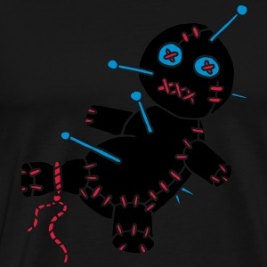 3 col - Voodoo Puppe Doll Funny Game Hawaii Tattoo Horror Psychopath Sweatshirts - Herre premium T-shirt