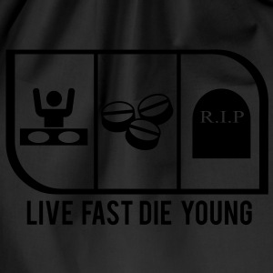 LIVE FAST DIE YOUNG - Drawstring Bag