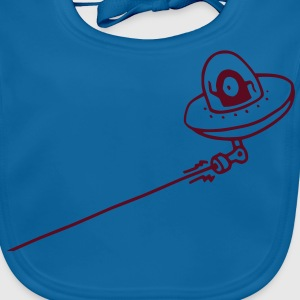 UFO Attack! (vector) Kids' Shirts - Baby Organic Bib