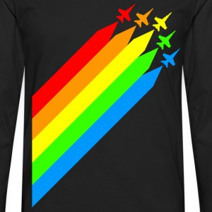 jetfighters - colorful - peace - war - diagonal Kids' Shirts - Men's Premium Longsleeve Shirt
