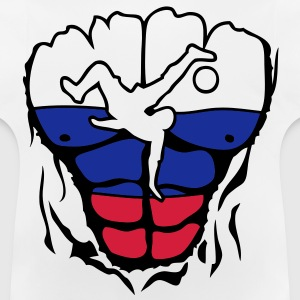 football russie drapeau corps muscle Tee shirts Enfants - T-shirt Bébé