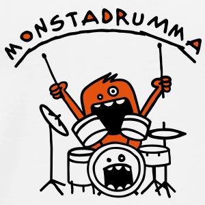Monster Drummer Tasses - T-shirt Premium Homme
