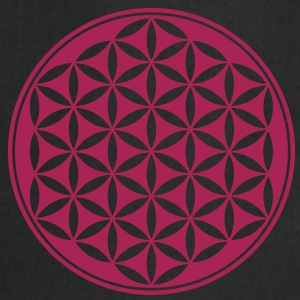 Vector - Flor de la vida - 03, 1c, sacred geometry, energy, symbol, powerful, healing, protection, cl Camisetas - Delantal de cocina