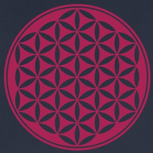 Vector - Flower of Life - 03, 1c, sacred geometry, energy, symbol, powerful, healing, protection, cl Sweaters - mannen T-shirt ademend
