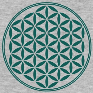 Vector - Flower of Life - 02, 1c, sacred geometry, energy, symbol, powerful, healing, protection, cl Sweaters - slim fit T-shirt