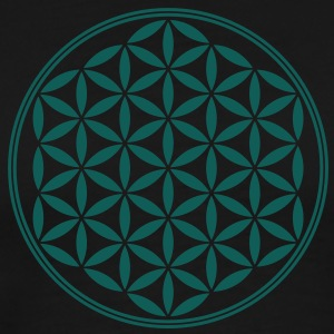 Vector - Flower of Life - 02, 1c, sacred geometry, energy, symbol, powerful, healing, protection, cl Hoodies & Sweatshirts - Men's Premium T-Shirt