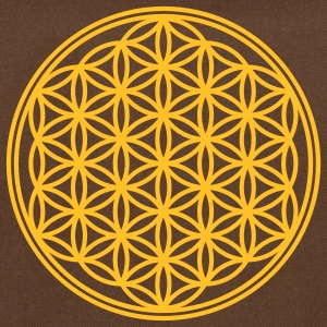 Vector - Flower of Life - 01, 1c, sacred geometry, energy, symbol, powerful, healing, protection, cl T-shirts - Skuldertaske
