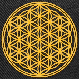 Vector - Flower of Life - 01, 1c, sacred geometry, energy, symbol, powerful, healing, protection, cl T-shirts - Snapback Cap