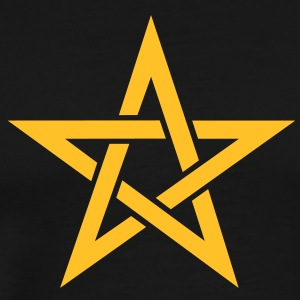 Star of the Magi - Pentagram - Sign of intellectual omnipotence and autocracy. Vector, Blazing Star, powerful symbol of protection Sweatshirts - Herre premium T-shirt