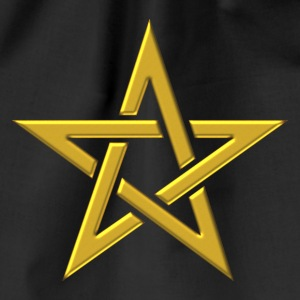 Star of the Magi - Pentagram - Sign of intellectual omnipotence and autocracy. gold, Blazing Star, powerful symbol of protection T-shirts - Gymtas