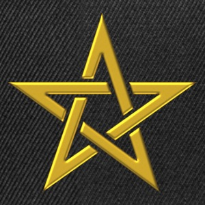 Star of the Magi - Pentagram - Sign of intellectual omnipotence and autocracy. gold, Blazing Star, powerful symbol of protection T-shirts - Snapback cap