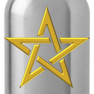 Star of the Magi - Pentagram - Sign of intellectual omnipotence and autocracy. gold, Blazing Star, powerful symbol of protection Hoodies & Sweatshirts - Water Bottle