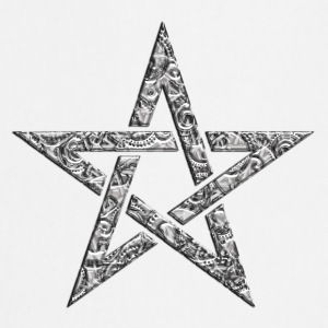 Star of the Magi - Pentagram - Sign of intellectual omnipotence and autocracy. digital, Blazing Star, powerful symbol of protection T-shirts - Keukenschort